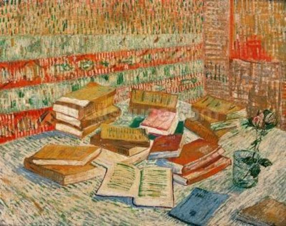 The Yellow Books, 1887 (oil on canvas) mural wallpaper