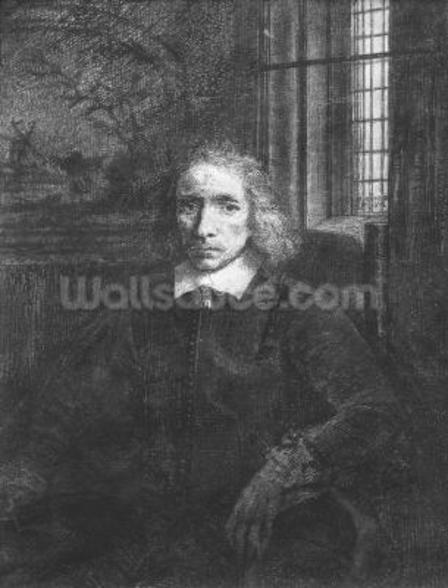 Thomas Jacobsz Haaring the Younger, 1656 (etching) (b/w photo) wallpaper mural
