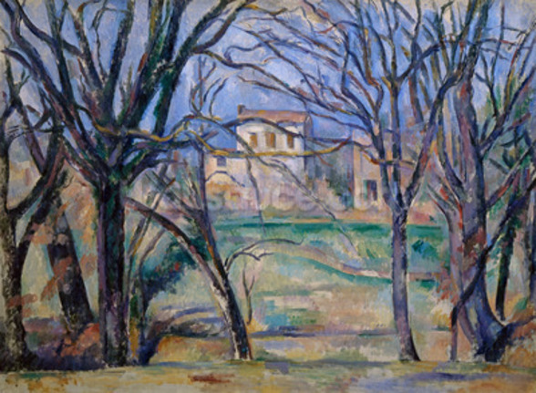 Trees and houses, 1885-86 (oil on canvas) (see also 287556) wall mural