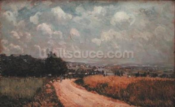 Turning Road or, View of the Seine, 1875 (oil on canvas) wallpaper mural