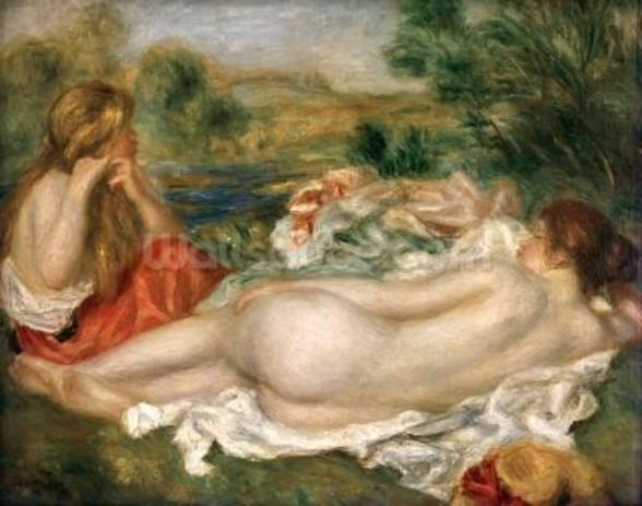 Two Bathers, 1896 (oil on canvas) wall mural