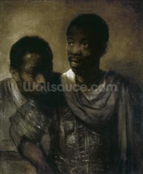 Two Negroes, 1661 (oil on canvas) wallpaper mural