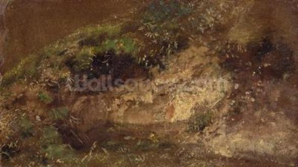 Undergrowth, c.1821 (oil on paper on board) wall mural