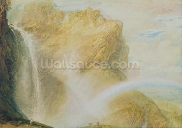 Upper Falls of the Reichenbach (w/c on paper) wall mural