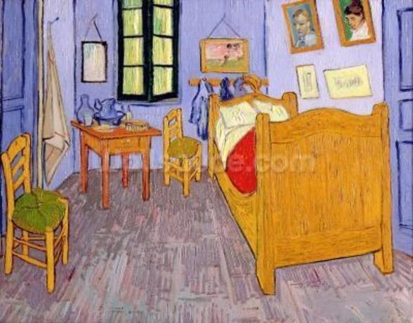 Van Goghs Bedroom at Arles, 1889 (oil on canvas) wall mural