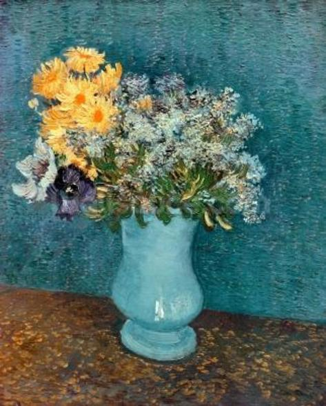 Vase of Flowers, 1887 (oil on canvas) wall mural