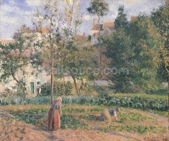 Vegetable Garden at the Hermitage, Pontoise, 1879 (oil on canvas) wall mural