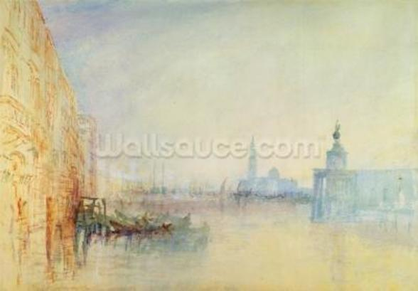 Venice, The Mouth of the Grand Canal, c.1840 (w/c on paper) wallpaper mural