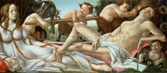 Venus and Mars, c.1485 (tempera and oil on panel) wall mural