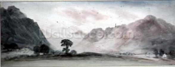 View in Borrowdale (watercolour) wall mural