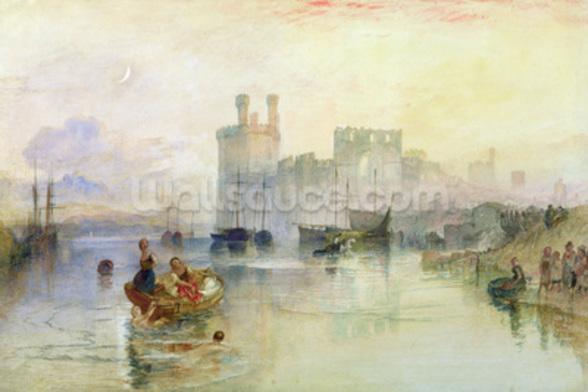 View of Carnarvon Castle (w/c on paper) wall mural