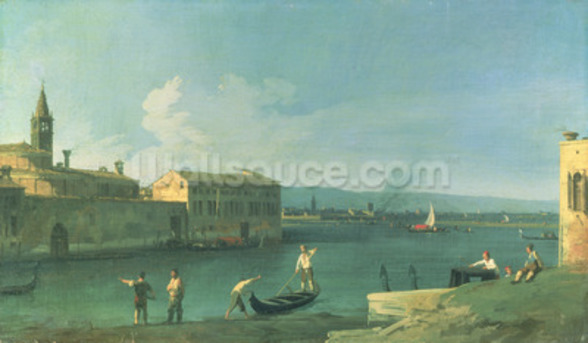 View of San Michele in Isola, Venice (oil on canvas) mural wallpaper