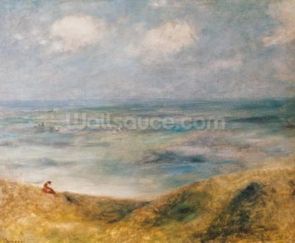 View of the Sea, Guernsey (oil on canvas) wall mural