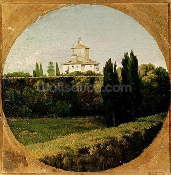 View of the Villa Medici, Rome (oil on canvas) wall mural
