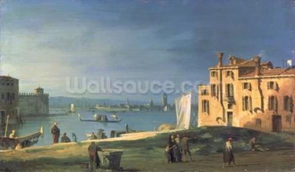 View of Venice (oil on canvas) wallpaper mural