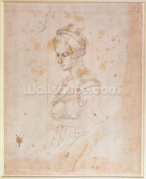W.41 Sketch of a woman wall mural