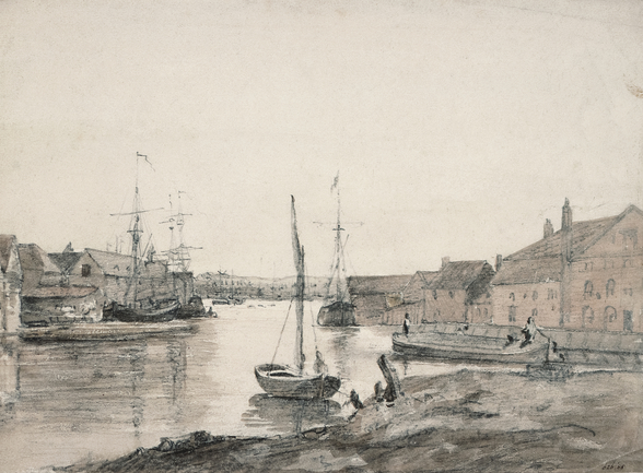 Warehouses & Shipping on the Orewell at Ipswich wall mural