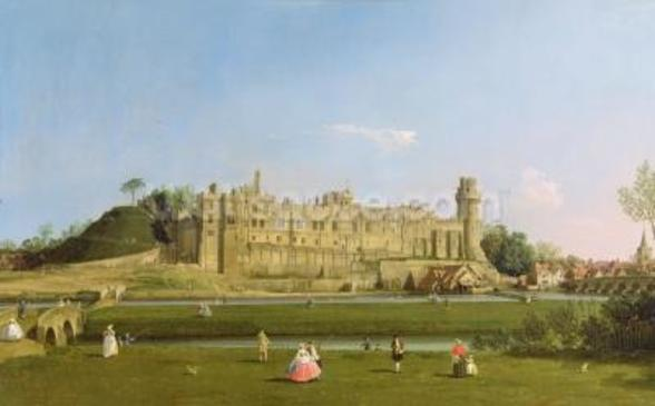 Warwick Castle, c.1748-49 (oil on canvas) wall mural