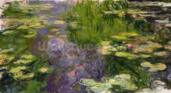 Waterlilies (oil on canvas) wallpaper mural