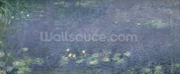 Waterlilies: Morning, 1914-18 (centre left section) mural wallpaper