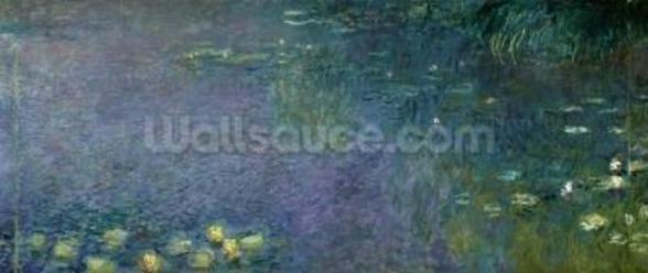 Waterlilies: Morning, 1914-18 (centre right section) wallpaper mural