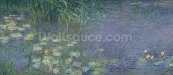 Waterlilies: Morning, 1914-18 (left section) wall mural