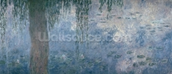 Waterlilies: Morning with Weeping Willows, 1914-18 (right section) wallpaper mural