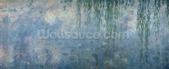 Waterlilies: Morning with Weeping Willows, detail of central section, 1914-18 (oil on canvas) (see also 71320, 71322) wall mural