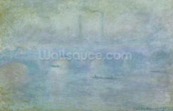 Waterloo Bridge: Effect of the Mist, 1903 wall mural