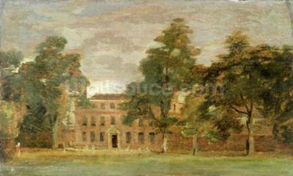 West Lodge, East Bergholt (oil on paper laid on panel) wall mural