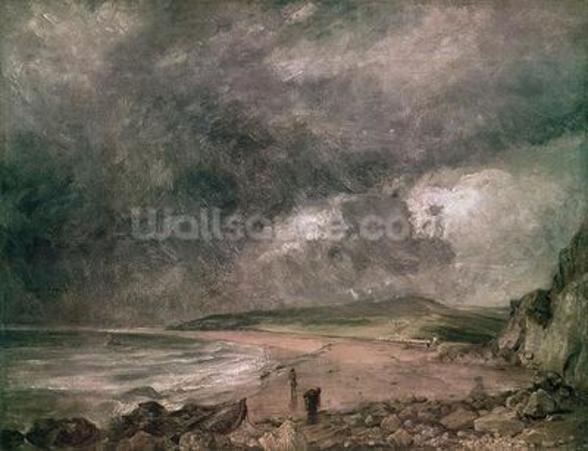Weymouth Bay with Approaching Storm (oil on canvas) wall mural