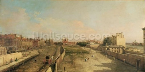 Whitehall (oil on canvas) wall mural