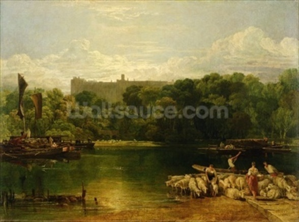 Windsor Castle from the Thames, c.1805 wall mural