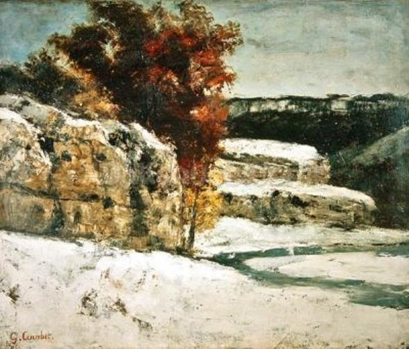 Winter Landscape, 1865-70 (oil on canvas) wall mural