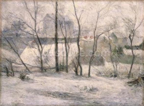 Winter Landscape, 1879 (oil on canvas) wall mural