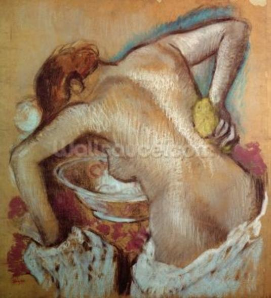 Woman at her toilet, c.1894 (pastel) wall mural