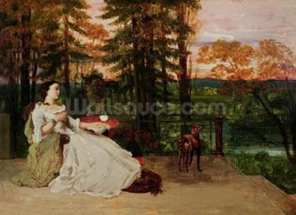 Woman of Frankfurt, 1858 (oil on canvas) wallpaper mural