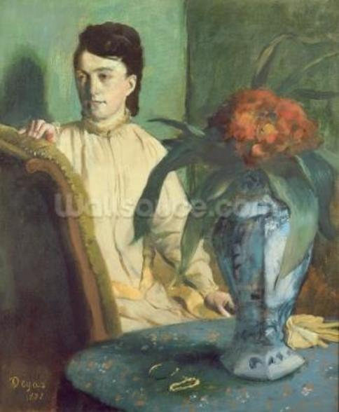 Woman with the Oriental Vase, 1872 (oil on canvas) wall mural