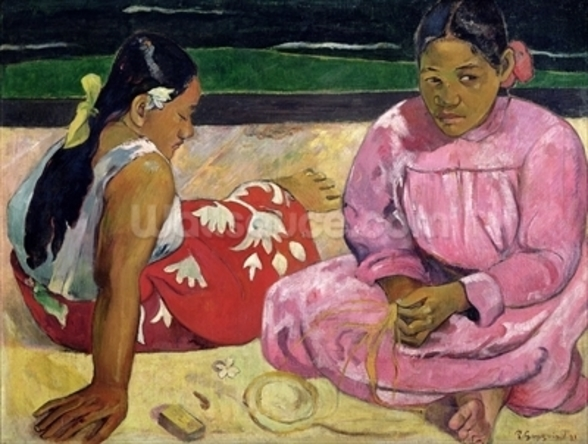 Women of Tahiti, On the Beach, 1891 (oil on canvas) wall mural