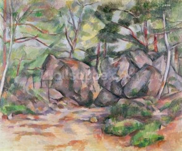 Woodland with Boulders, 1893 (oil on canvas) mural wallpaper