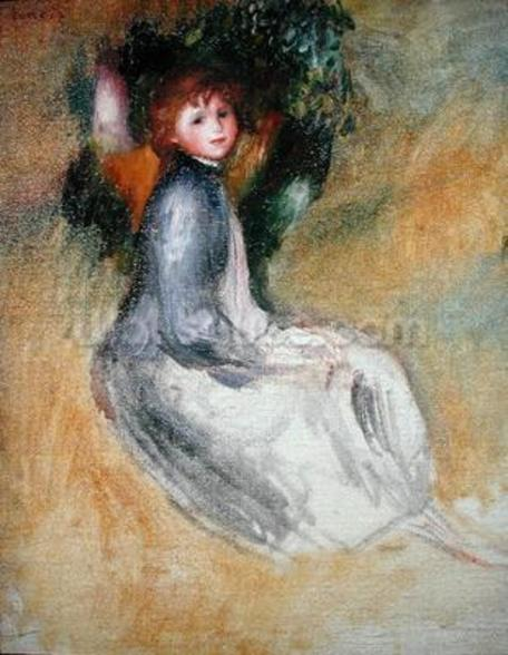 Young Girl Seated, 1885 (oil on canvas) mural wallpaper