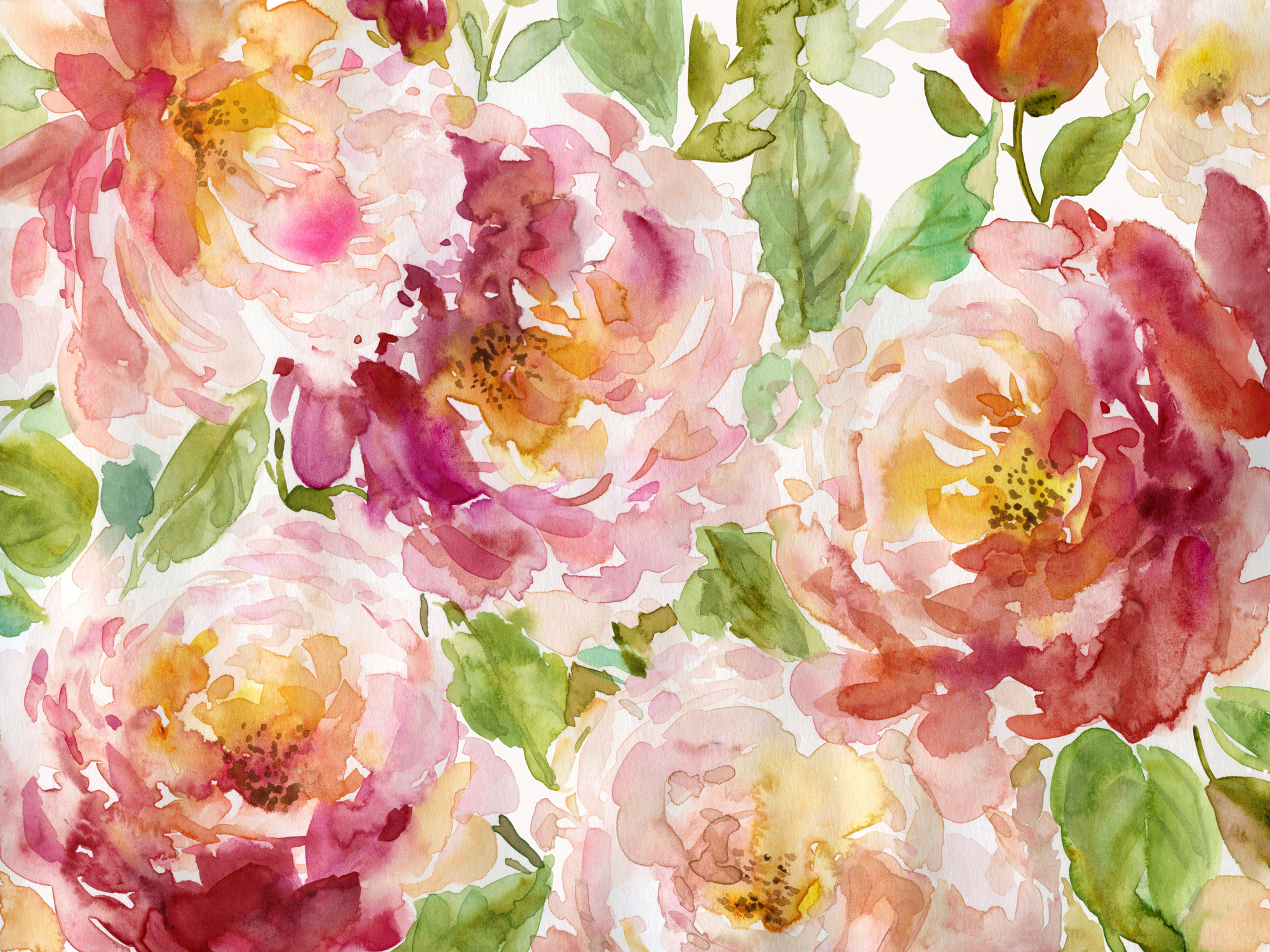 Bold And Beautiful Floral Mural By Carol Robinson