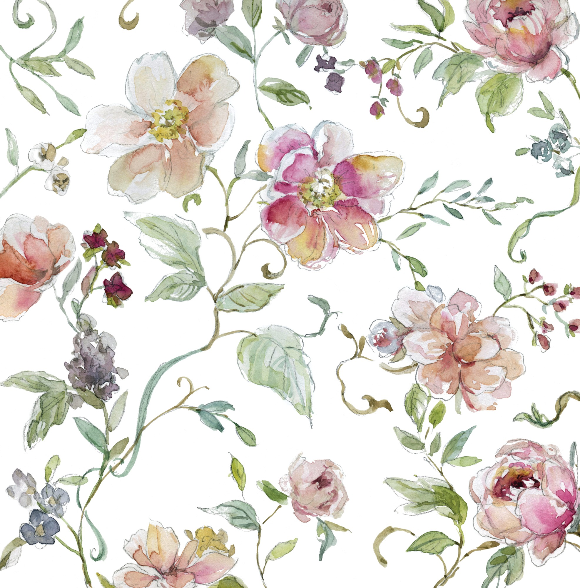 Chinoiserie wall mural wallpaper wallsauce for Chinoiserie mural wallpaper