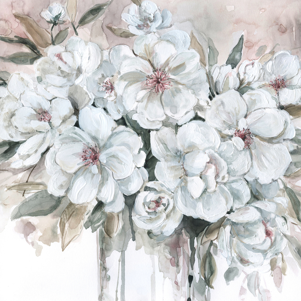 Blushing Bouquet wallpaper mural