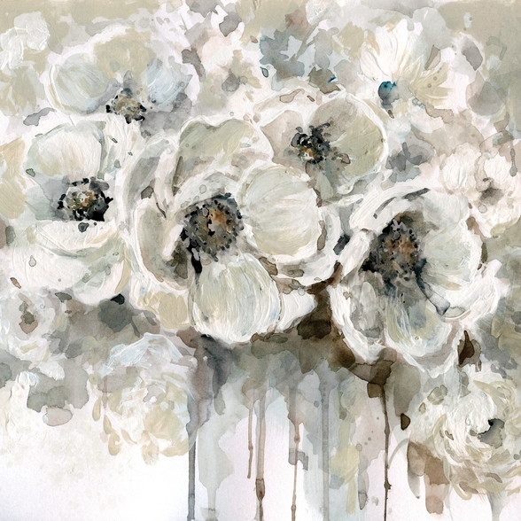 Neutral Bouquet wallpaper mural