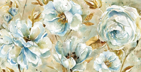 Watercolor Floral Rug wallpaper mural