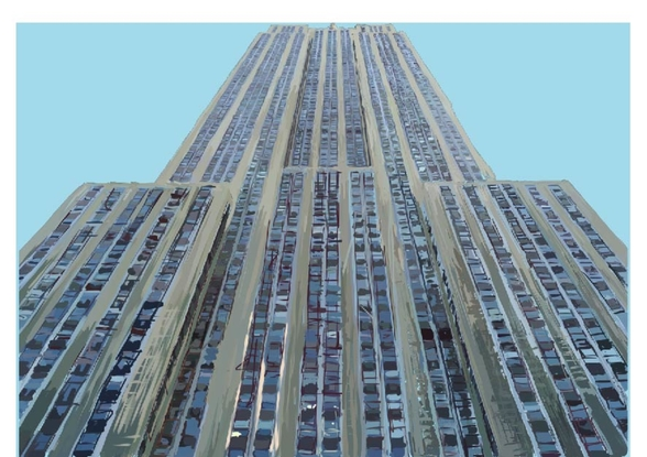 Empire State on Sky Blue mural wallpaper