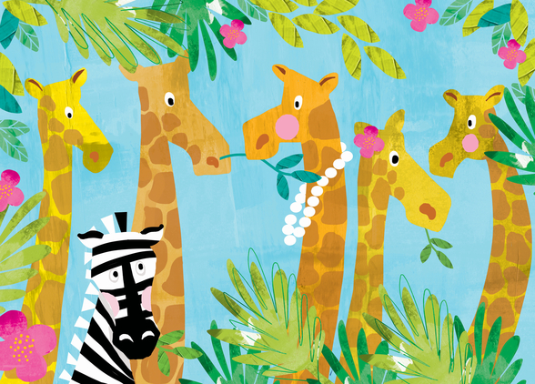 Giraffes wallpaper mural