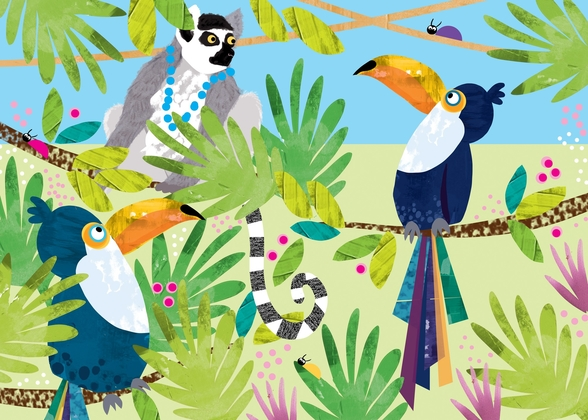 Toucans wall mural