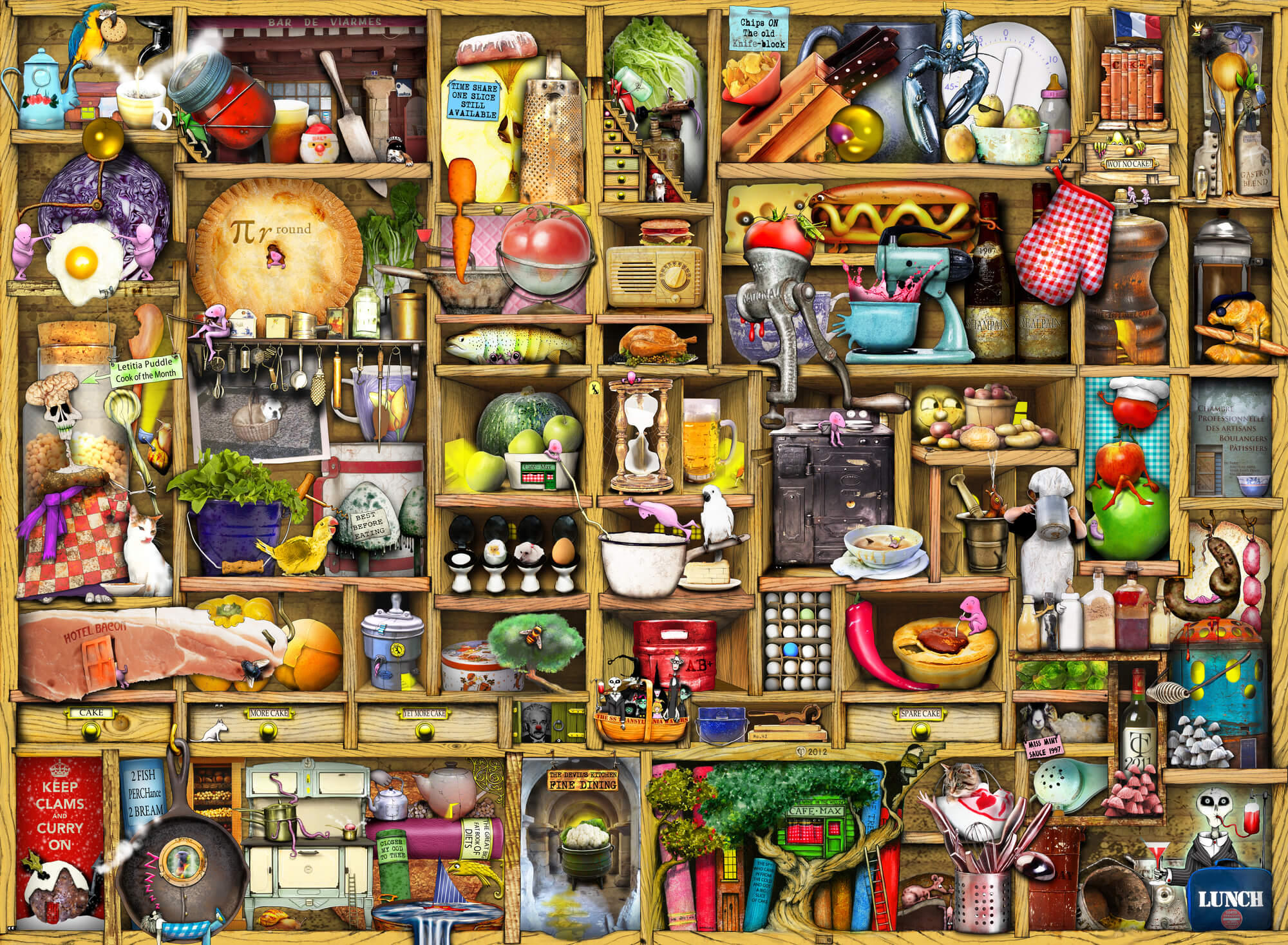 Kitchen Cupboard Mural Wallpaper